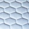 KIT Pirra - Materasso in lattice alto 20 cm, con rete a doghe e cuscini memory