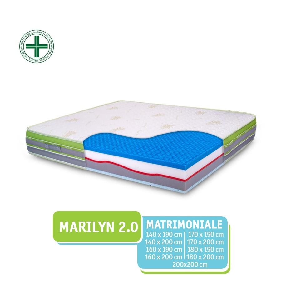 Materasso Matrimoniale Con Memory E Lattice Marilyn 2 0