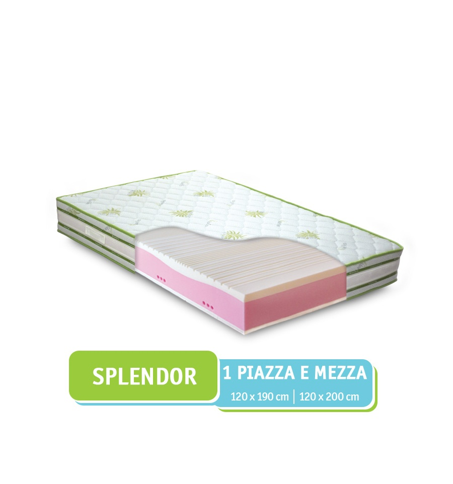 Materassi Una Piazza E Mezza Prezzi.Materasso Una Piazza E Mezza Memory Aloe Vera Made In Italy