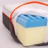 Materasso in memory gel con lastra 6cm alto 22 cm - FRIDA