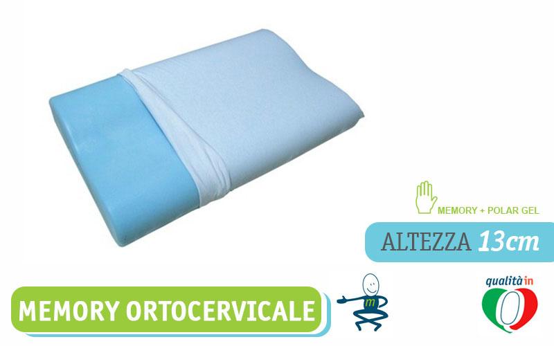 Il Miglior Cuscino Cervicale.Cuscino Per La Cervicale In Memory Foam E Polar Gel