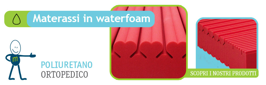 Materassi Waterfoam in poliuretano di alta qualità - MaterassINLinea