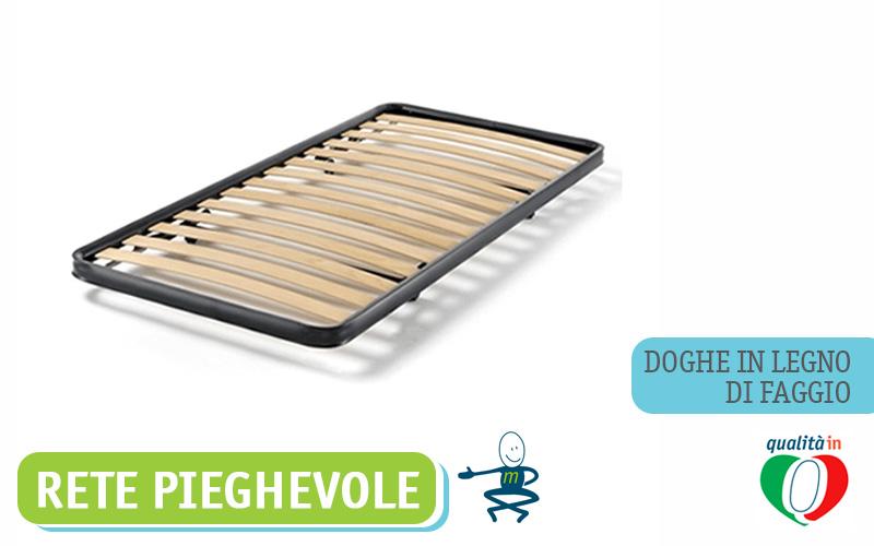 Rete A Doghe Estraibile Pieghevole Con Ruote.Rete Pieghevole Ortopedica Doghe In Legno Di Faggio